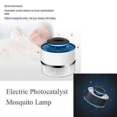 Electronic Photocatalyst Radiation-free Mosquito Fly Killer Catcher Trap Lamp KY