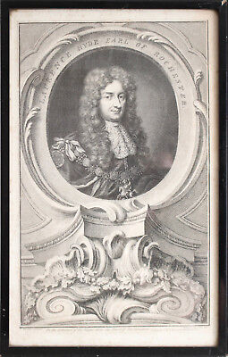 A Fine Mid c18th Engraving Laurence Hyde 1st Earl of Rochester, J. HOUBRAKEN