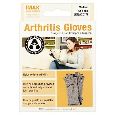 IMAK Arthritis Gloves Compression Medium - Original Sealed!