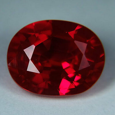 11.00ct.AWESOME BLOOD RED RUBY OVAL LOOSE GEMSTONE