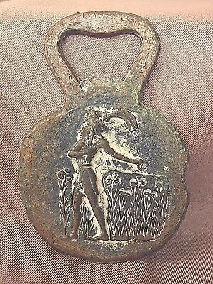 Vintage Bronze Bottle Opener Made In Greece