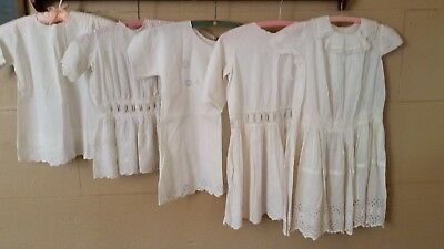 Antique Victorian/ Edwardian Dress Lot- All Made For Same Child!