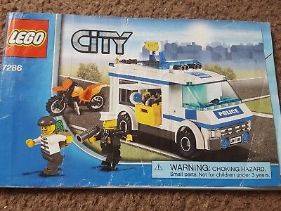 Lego City 7286 Prisoner Transport 100 Complete With