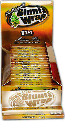 Blunt Wrap Rolling Papers Gold Medium Thin 1 1/4 5 packs
