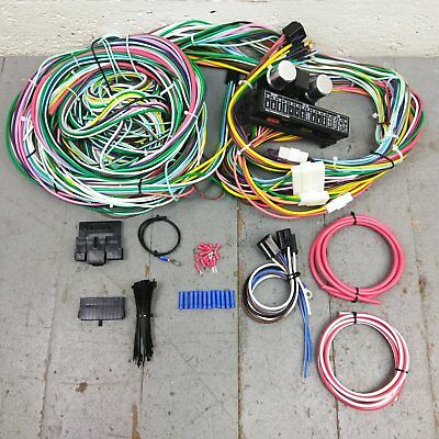 1955 1957 chevy bel air wire harness upgrade kit fits painless fuse block new. Black Bedroom Furniture Sets. Home Design Ideas