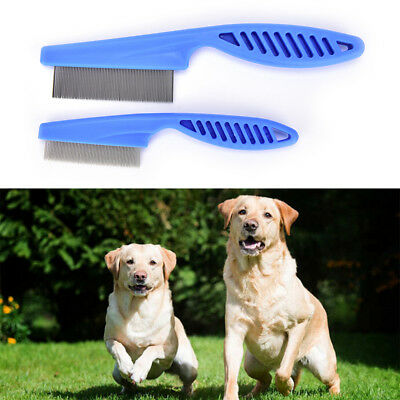 Plastic White Tooth Comb Pet Dog Cat Grooming Cleaning Remove Flea Pet Tools YJ