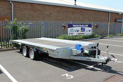 CAR TRANSPORTER RECOVERY trailer 14.10ft x 6.7 2700kg 4.5m x 2m flat bed MARTZ