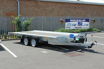 Flat Bed Trailer Recovery Car Transporter 2700kg GVW 4.5m long x2m 14FT x6 MARTZ