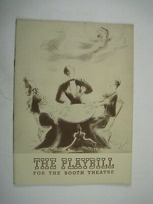 Blithe Spirit Playbill 1942 Booth Theatre Clifton Webb Used Ticket Matinee Nov