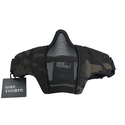 OneTigris Tactical Foldable Half Face Mask Paintball Protective Mesh Mask