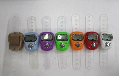 5 x Digital Finger Ring Tally Counter,Tasbeeh,Golf,Passengers random colours