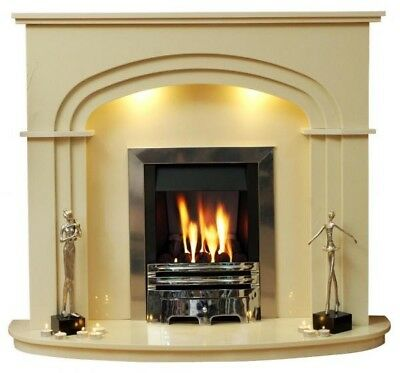 Shelbourne Fireplace With Marble Surround Mantle Shelf And Curved
