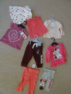 F&F Disney Girls Clothes 0 - 3 and 3 - 6 month bundle