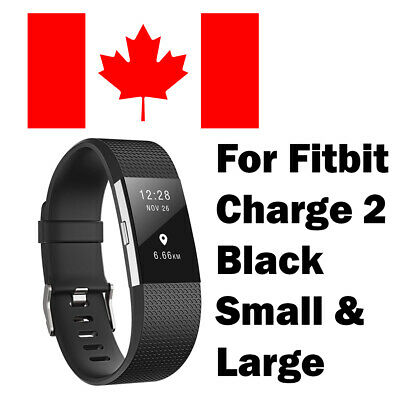 For Fitbit Charge 2 Replacement Smart Watch Strap WristBand SMALL LARGE -  Black