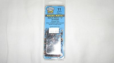 Kadee 11 HO Scale #5 Universal Magne-Matic Metal Couplers 20-pair New in Package