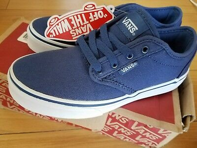 be15f776dcb7 NEW Kids Youth VANS Atwood Low Canvas Navy Blue Sneakers Shoes 2 M