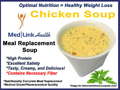 MEDLINKHEALTH CHICKEN SOUP MIX Meal Replacement Weight Loss | 3 BOXES