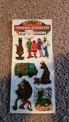 1988 unopened scooby doo puffy stickers set