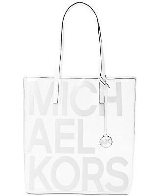 1fb9b333750c NWT Michael Kors Large North South Transparent Tote Clear/White - SEALED  PACKAGE