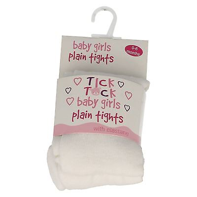 2 Pair WonderKids Girls Infant WHITE Tights Size 0-6 Months New /& Carded