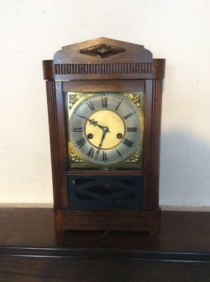 N159 Antique 19th Century German HAC Single Dong Mantle Clock in Great Condition