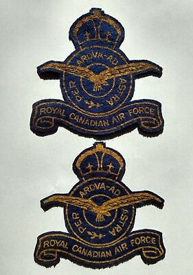 "Patches: Pr (2) WWII Canada Army ""R.C.A.F."" Royal Canadian Air Force WW2"