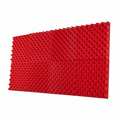 """8 Pack - All RED Acoustic Panels Studio Foam 2.5""""X12"""" X12"""" Egg Crate Tiles"""