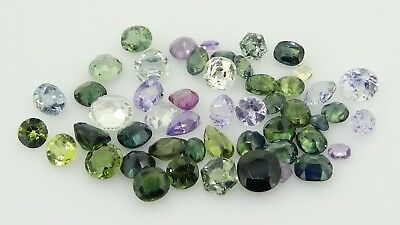 mixed Antique Natural fancy sapphires 23.71ct Genuine Loose gemstones
