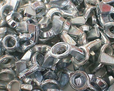 Wing Nuts M10 pk10 BZP Butterfly Wingnut 8mm Forged Steel pack 10 see details