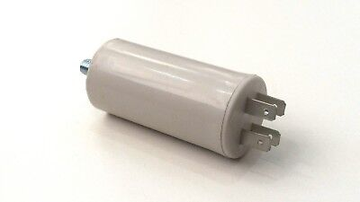 FISHER AND PAYKEL - PLASTIC ROUND RUN CAPACITOR 7µF / 7UF 400-500V 4 TERMINALS