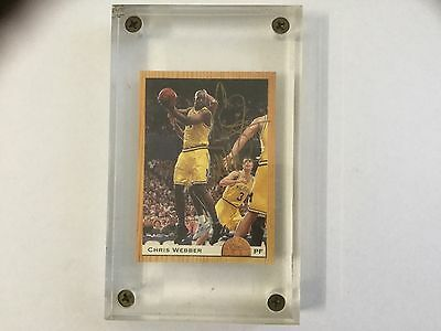Chris Webber RC Signed Card Classic Basketball