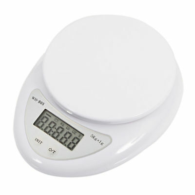 Digital Kitchen Scale 1g-5kg Diet Food Compact Kitchen Scale 0.1 - 176 oz New