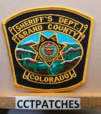 Grand County, Colorado Sheriff Black (Police) Shoulder Patch Co