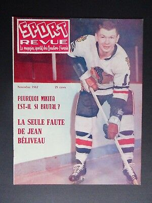 Vintage 1962 Sport Revue with Stan Mikita on Cover and Fontinato On Back Cover