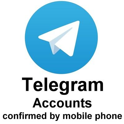 Telegram Account confirmed by mobile phone number - Activated by SMS code