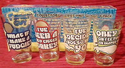 Family Guy Character As Seen  On TV  Collectors  Series Set  4 Pint Glasses 2009