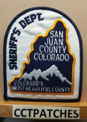 San Juan County, Colorado Sheriff (Police) Shoulder Patch Co