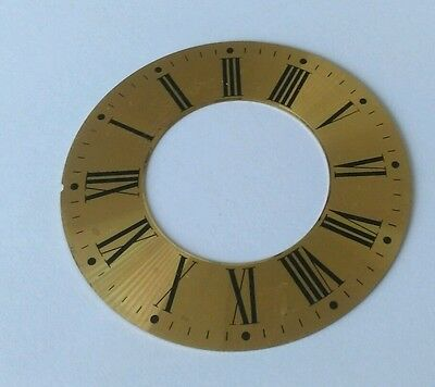 Clock Chapter/Hour Ring Spun Brass  Roman 97mm Outside 52mm Inside