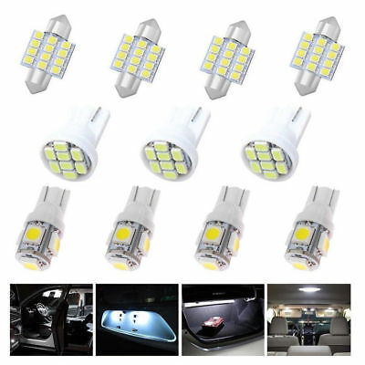 14Pc White LED Interior Package For T10&31mm Map Dome License Plate Lights NEW