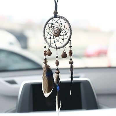 New Dream Catcher Beaded Car Wall Hanging Bead Ornament Feathers Mini Decoration