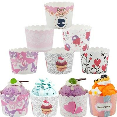 50Pcs Paper Cake Cupcake Liner Baking Muffin Box Cup Case Party Tray Cake Decor