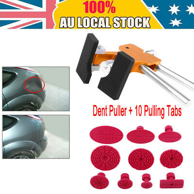 Auto Car Body Dent Remover Repair Puller Kit Tools & 10 Tabs Dent Puller AU Sale