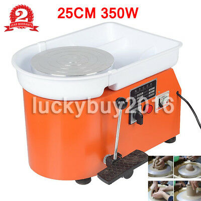 "9.8"" 350W Electric Pottery Wheel Ceramic Machine For Work Clay Art Craft 220V"