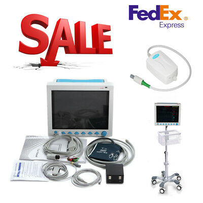 CO2 Monitoring ICU Patient Monitor Vital Signs Monitor bracket+Rolling Stand FDA