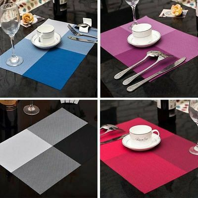 Kitchen Table Cup Bowl Placemat Rectangle Tableware Pad Mat Heat Insulation Mats