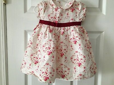 Janie And Jack Infant Girls 6-12 Months Silk Short Sleeved Dress...NWT