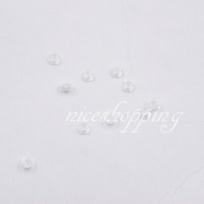 10 Pcs Dental Orthodontic Transparent Composite Lingual Buttons Aesthetic Threat