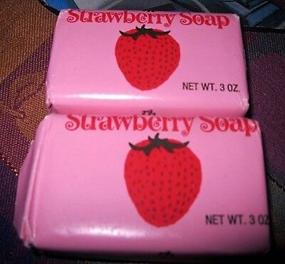 Lot of 2 Vintage Strawberry Soaps Made For Marshall Field & Co., 3 oz. X 2 - NIP