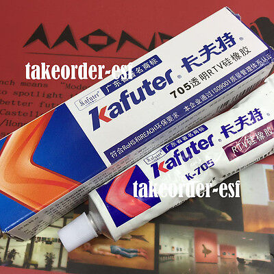 Kafuter K-705 silicone insulation glue white silicone electronics sealant 45g