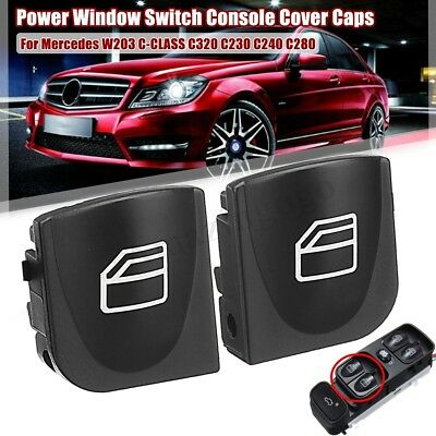 Power Window Switch Console Cover Caps For Mercedes W203 C Class C230 C240 C280
